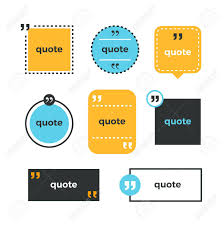 Memo Card Template Quotes Set Quote Copyspace Template Quote Bubble Business