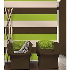 Chocolate Brown / Lime Green / Cream - 40904 - Olivia Stripe - Wallpaper