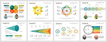 Consulting Charts Colorful Consulting Or Marketing Concept Infographic Charts Set