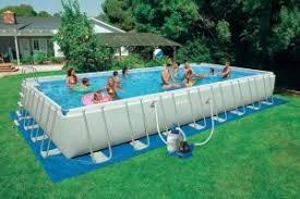 intex above ground swimming pool. Premium Intex 16x32x52 Ultra Frame Rectangular Above Ground Swimming Pool