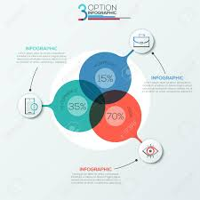 Modern Infographics Options Banner Area Chart With 3 Intersection