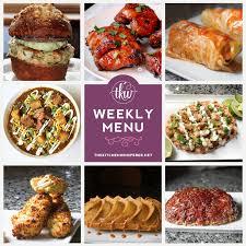 Weekly Menu For One Weekly Menu