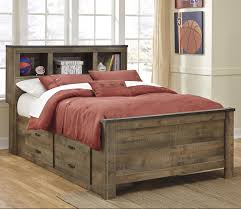 rustic look furniture. Rustic Look Full Bookcase Bed With Under Storage Furniture