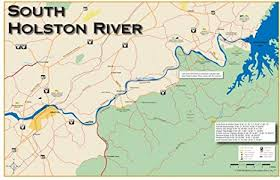 South Holston River 11x17 Fly Fishing Map