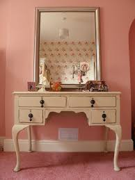 Mirrored Bedrooms Lovely White Wooden Single Mirror Dressing Tables With Rustic