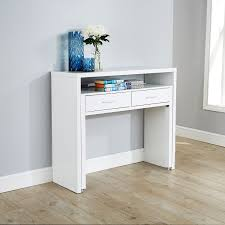 white desk home office. Regis Hideaway Console Desk White Home Office Y