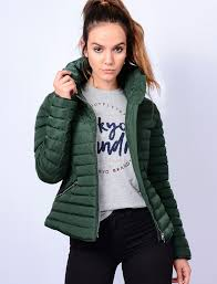 Zelda Funnel Neck Quilted Jacket in Dark Green - Tokyo Laundry ... & Zelda Funnel Neck Quilted Jacket in Dark Green - Tokyo Laundry Adamdwight.com