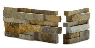 norstone ochre blend stacked stone veneer for feature walls fireplaces backsplashes and retaining