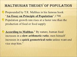 comperative study about optimum and malthusian theory of population malthusian theory of populationpropounded
