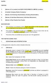 Personaln Agreement Template Simple Microsoft Word Between