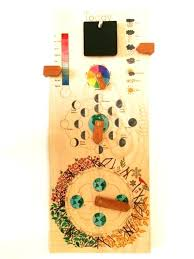 wooden perpetual wall calendar with seasons moon phases months days and weather antique german