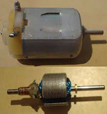 brushed dc electric motor the inside of a miniature dc motor as would be found in a toy