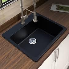drop in kitchen sink. Winpro Granite Quartz 25\ Drop In Kitchen Sink 3