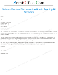 sample notice of service disconnection due to bill png