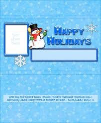 Snowman Holiday Chocolate Bar Wrapper Free Printable Candy
