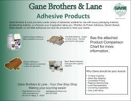 Glue Comparison Chart Adhesives Book Binding Glue Gane Brothers Lane