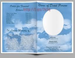 Funeral Program Templates Free Danetteforda