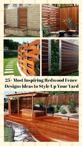 most inspiring redwood fence designs