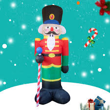 Christmas Lighted Soldiers Us 49 99 8 Nutcracker Toy Soldier Led Lighted Outdoor Air Blown Inflatable Christmas Yard Decoration In Party Diy Decorations From Home Garden On