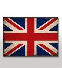 Ahşap Tablo İngiltere Bayrağı Görseli- Çiçeksepeti