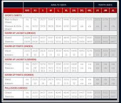 Badger Sportswear Size Chart Tonix Teamwear Size Chart