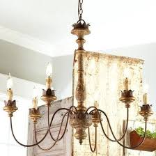vineyard metal and wood 6 light chandelier with seeded glass shades antique vintage inspired style shades