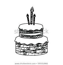 Sketch Of Birthday Cake Running Downcom