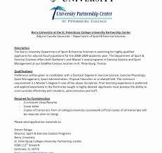 Adjunct Faculty Resume Cover Letter Lv Crelegant Com