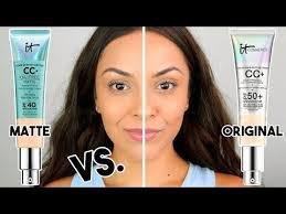 It Cosmetics Cc Cream Matte Vs Original Cc Cream Which