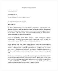 Sample Reference Letter For Dental School Milviamaglione Com