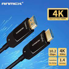 Anmck Quang Có Dây Cáp HDMI 1.4 4K 30Hz 2K 144 HZ 10M 15M 20M 30M 40M 50  HDMI To HDMI Cho Tivi HD Hộp Máy Chiếu Màn Hình|HDMI Cables