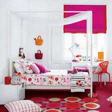 furniture, Cute Pink Nuanced Contemporary Girl Bedroom On Funny Flooring  Decorated With Gilr Teen Room