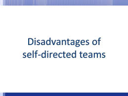 Disadvantages Of Teamwork The Advantages And Disadvantages Of Self Managed Work Teams