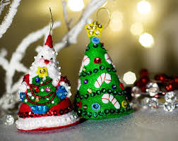 Candy Cane Christmas Trees With A Snowman On A Red Snowflake Christmas Tree With Candy Canes