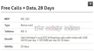 Idea Internet Recharge Chart Vodafone Launches Rs 255 Prepaid Pack With Unlimited Calls