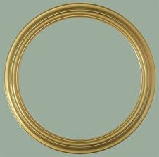heirloom gold round frame