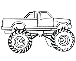 Printable Monster Truck Coloring Pages Free Truck Coloring Pages