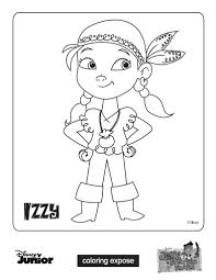 jake izzy jake and the neverland pirates coloring pages