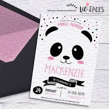 Panda Birthday Party Invitations Panda Bear Birthday Pandamonium Invitations Girl Printable Party Animals Invitation