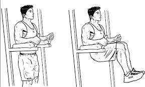 Image result for Knee Raise with Twist: