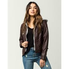 jou jou fur lined womens faux leather jacket 313991 jou jou fur lined womens faux leather jacket women s jackets nxfzxna