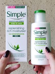 Simple Kind To Skin Hydrating Light Moisturizer Review Simple Replenishing Rich Moisturizer Review Sensitive