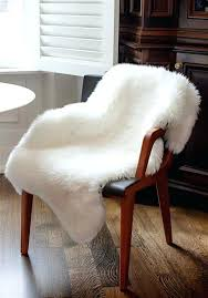 fur chairs ivory bear faux chair cover 2 dining fur chairs white cover