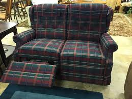 Plaid Living Room Furniture Plaid Lazy Boy Loveseat 195 Forsale Mk Consignment Loveseat