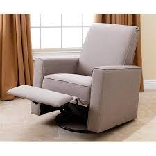 abbyson living hampton nursery swivel glider recliner chair in taupe