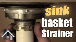 How To Replace Basket Strainer Kitchen Sink Drain Easy Home