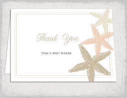 printable thank you card template wedding thank you cards template beach starfish wedding printable