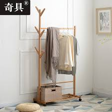 Simple Wood Coat Rack USD 100100] Odd clothes hat rack floor bedroom hanger simple clothes 29