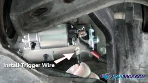 how to change a starter motor in under 45 minutes installing starter trigger wire