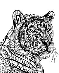 What do you want for christmas? Tiger Printable Mandala To Print Or Download For Free